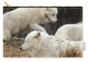 White Furs Carry-all Pouch