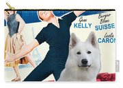 White German Shepherd Art Canvas Print - An American In Paris Movie Poster Carry-all Pouch