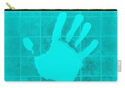 White Hand Aquamarine Carry-all Pouch