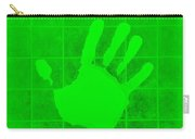 White Hand Green Carry-all Pouch