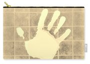 White Hand Sepia Carry-all Pouch