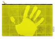 White Hand Yellow Carry-all Pouch