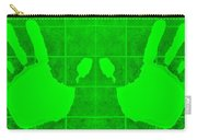 White Hands Green Carry-all Pouch