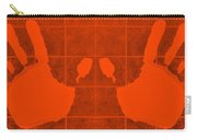White Hands Orange Carry-all Pouch