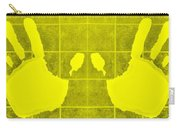 White Hands Yellow Carry-all Pouch