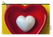 White Heart Red Heart Carry-all Pouch