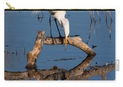 White Heron In The Looking Glass Carry-all Pouch