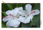 White Hibiscus Trio Waikiki Carry-all Pouch