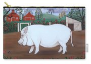 White Hog And Roses Carry-all Pouch