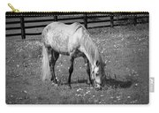 White Horse In A Pasture Among Daisy Flowers Carry-all Pouch