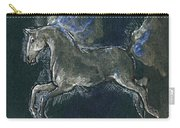 White Horse Minature Painting Carry-all Pouch