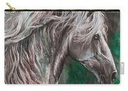 White Horse Painting Carry-all Pouch