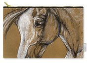 White Horse Soft Pastel Sketch Carry-all Pouch