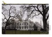 White House On A Cloudy Winter Day Carry-all Pouch