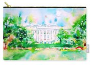 White House - Watercolor Portrait Carry-all Pouch