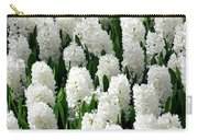 White Hyacinths Carry-all Pouch