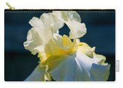 White Iris With Yellow Carry-all Pouch