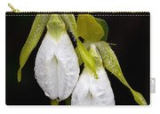 White Lady's Slipper Pair Carry-all Pouch