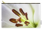 White Lily Close Up Carry-all Pouch by Garry Gay