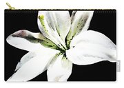White Lily - Elegant Black And White Floral Art By Sharon Cummings Carry-all Pouch by Sharon Cummings