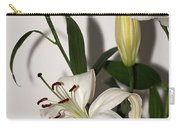 White Lily Spray Carry-all Pouch