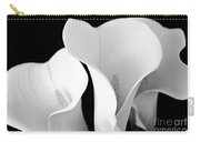 White Lily Trio In Black And White Carry-all Pouch