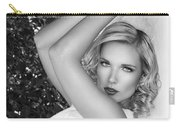 White Linen Bw Palm Springs Carry-all Pouch