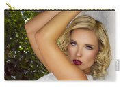 White Linen Palm Springs Carry-all Pouch