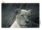 White Lioness Carry-all Pouch