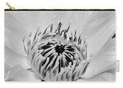 White Lotus Bw Carry-all Pouch
