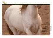 White Mare Approaches Number One Close Up Brighter Carry-all Pouch