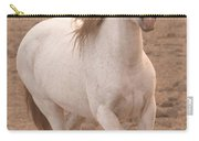 White Mare Approaches Number One Close Up Muted Carry-all Pouch
