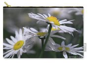 White Marguerite Carry-all Pouch