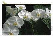 White Moth Orchid Phalaenopsis And Ferns Carry-all Pouch