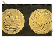 White Mountain Apache Tribe Code Talkers Bronze Medal Art Carry-all Pouch