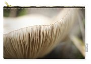 White Mushroom Gills Closeup Carry-all Pouch