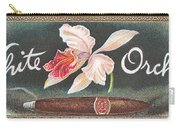 White Orchid Cigar Label Carry-all Pouch