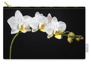 White Orchids Carry-all Pouch by Adam Romanowicz