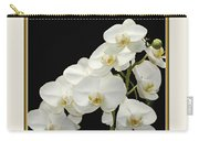White Orchids II Carry-all Pouch by Tom Prendergast
