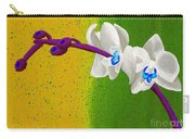 White Orchids On Yellow And Green Carry-all Pouch
