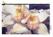 White Orchids Watercolor Carry-all Pouch by Greta Corens