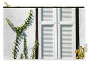 White Painted Shutter Carry-all Pouch