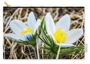 White Pasque Flower Carry-all Pouch