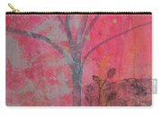 White Peace Bird On Pink Carry-all Pouch