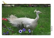 White Peacock In Our Garden Carry-all Pouch
