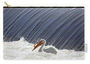 White Pelican Over The Dam Carry-all Pouch