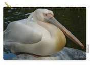 White Pelican Sitting Carry-all Pouch