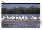 White Pelicans And Little Friends Carry-all Pouch
