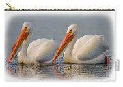 White Pelicans Carry-all Pouch