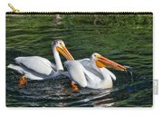 White Pelicans Fishing For Trout Carry-all Pouch by Kathleen Bishop